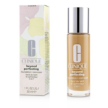 Clinique Beyond Perfecting Foundation & Concealer - # 18 Sand (M-N)