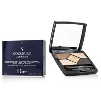 Christian Dior 5 Color Designer All In One Professional Eye Palette - No. 708 Amber Design