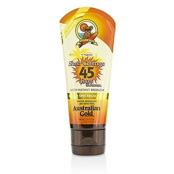 Australian Gold Sheer Coverage Faces Sunscreen SPF 45 With Instant Bronzer