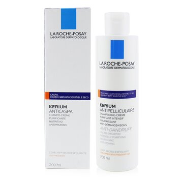 La Roche Posay Kerium Anti-Dandruff Cream Shampoo (For Dry Hair or Scalp)