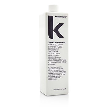 Kevin.Murphy Young.Again.Rinse (Immortelle and Baobab Infused Restorative Softening Conditioner - To Dry, Brittle or Damaged Hair)