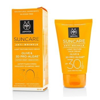 Apivita Suncare Anti-Wrinkle Light Texture Face Cream SPF 30
