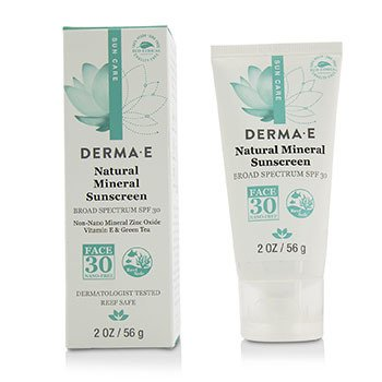 Derma E Natural Mineral Sunscreen Broad Spectrum SPF 30 - Face