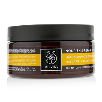 Apivita Nourish & Repair Hair Mask with Olive & Honey (For Dry-Damaged Hair)