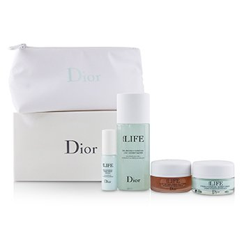 Christian Dior Hydra Life Travel Set: Balancing Hydration Sorbet Water+Deep Hydration Water Essence+Fresh Hydration Creme+Glow Better Mask