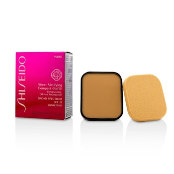 Shiseido Sheer Matifying Compact Oil Free SPF21 (Refill) - # WB60 Natural Deep Warm Beige