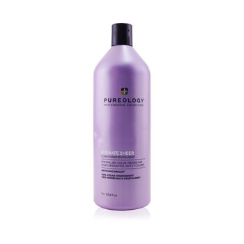 Pureology Hydrate Sheer Conditioner - For Fine, Dry, Color-Treated Hair (Bottle Slightly Crushed)
